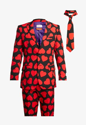 KING OF HEARTS SUIT SET - Suit - black/red