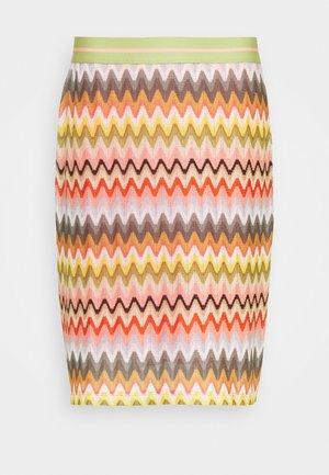 ZICKZACK SKIRT - Pencil skirt - off-white/multi