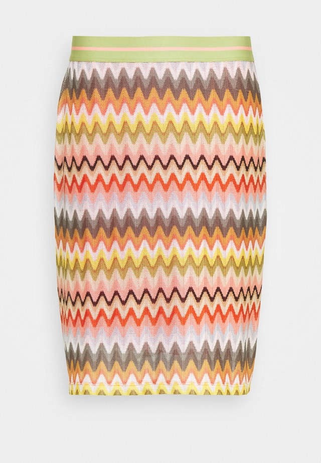 ZICKZACK SKIRT - Gonna a tubino - off-white/multi