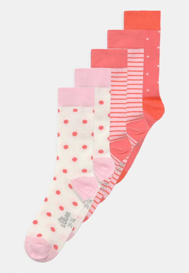 ONLINE JUNIOR PATTERNED 5 PACK - Sokken - hot coral
