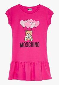 MOSCHINO - DRESS - Robe d'été - fucsia flower - 0