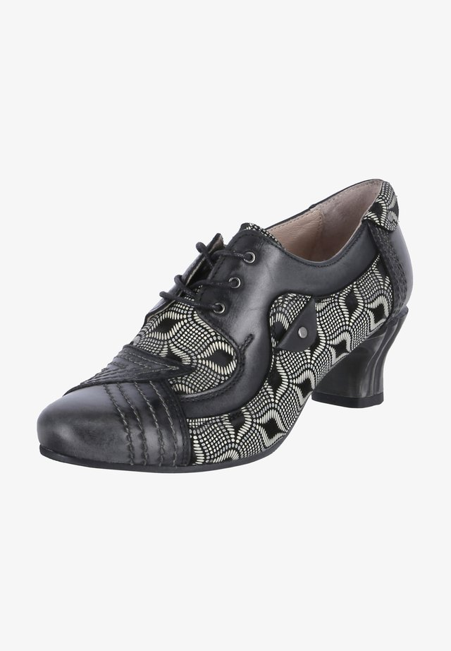 Lace-up heels - schwarz-beige