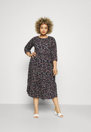 CARVAGA CALF DRESS - Denní šaty - black