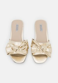 Nly by Nelly - BOW FOR ME FLAT - Mules - gold - 5