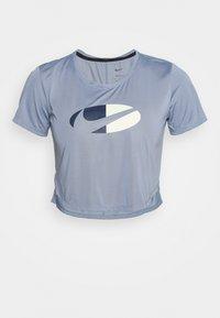 ONE  - Print T-shirt - ashen slate/white