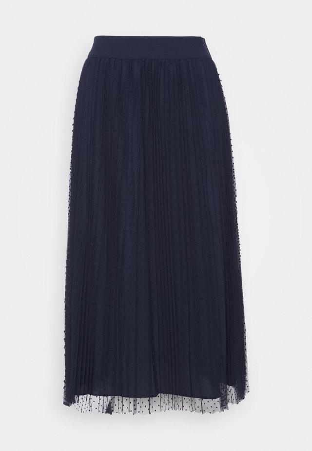 MESH CRINKLE DOT - A-snit nederdel/ A-formede nederdele - new navy