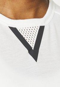 adidas Performance - CROP TEE - Print T-shirt - off-white - 5