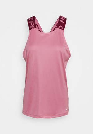 DRY ELASTIKA TANK - Sports shirt - desert berry/dark beetroot/white
