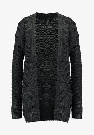 VMNO NAME CARDIGAN  - Kofta - dark grey melange