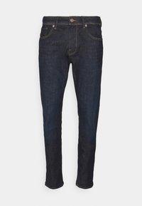 SLHSLIM LEON - Straight leg jeans - dark blue denim