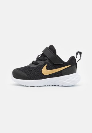 REVOLUTION 6 TDV UNISEX - Neutral running shoes - black/metallic gold/white
