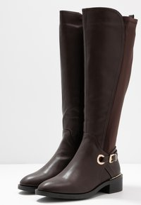 Dorothy Perkins Wide Fit - WIDE FIT KIKKA FORMAL RIDING BOOT - Bottes - choc - 4