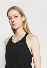 Nike Performance - DRY ELASTIKA TANK - Funktionströja - black/white - 3