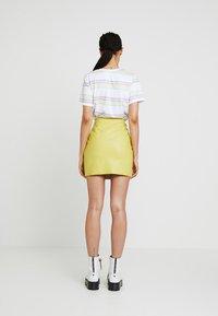 Even&Odd - Mini skirt - neon green - 2