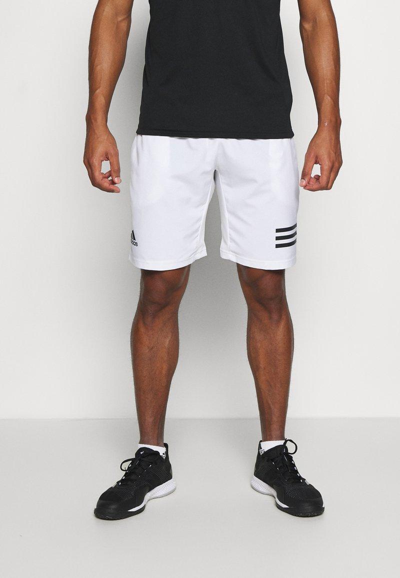 adidas Performance - CLUB 3-STRIPES TENNIS AEROREADY PRIMEGREEN SHORTS - Pantalón corto de deporte - white/black