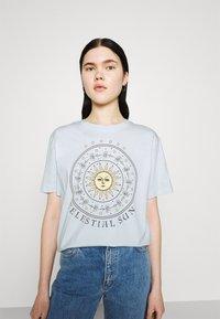 Even&Odd - Print T-shirt - light blue - 3