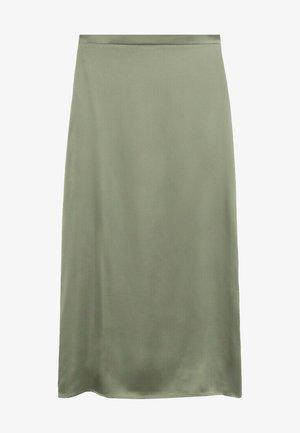 MATILDE-A - Pleated skirt - olivengrün