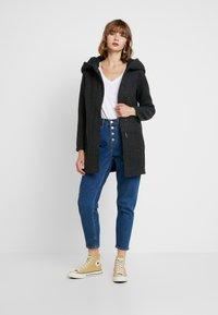 Vero Moda - VMBRUSHEDVERODONA - Krátký kabát - dark grey melange - 1