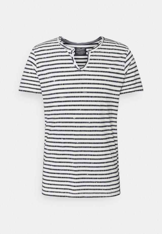 Camiseta estampada - bright white/blue