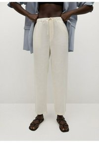 Mango - Trousers - šedobílá - 0