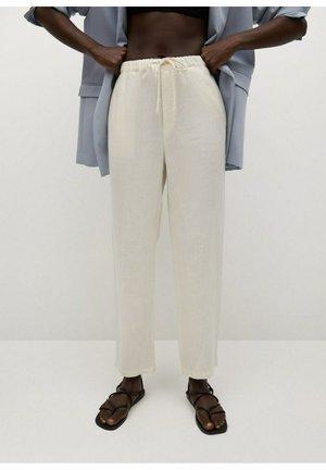Kalhoty - šedobílá