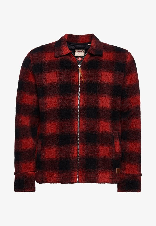 Winter jacket - red check