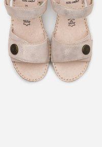 Jana - Platform sandals - pepper/light gold - 5