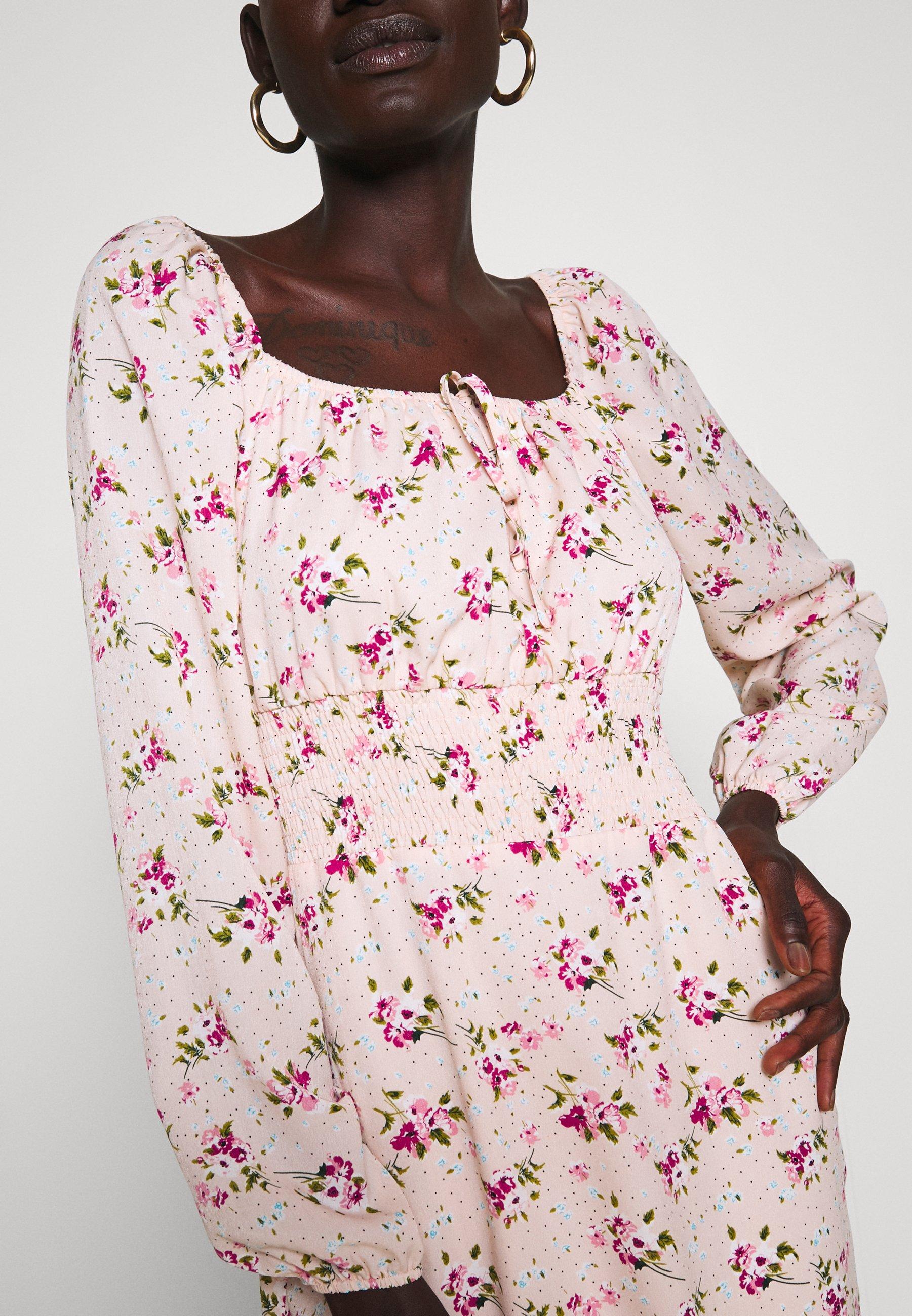 Missguided Tall WAIST MINI DRESS - Kjole - pink