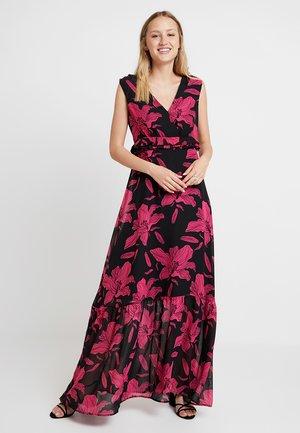 GLADYS DRESS - Maxi šaty - black/pink