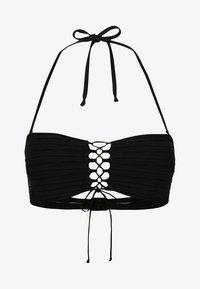 BANDEAU TOP - Bikini top - black