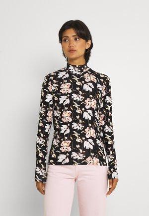VIZALANA FUNNELNECK - Long sleeved top - black/rose
