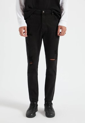 Jeans Tapered Fit - mottled black