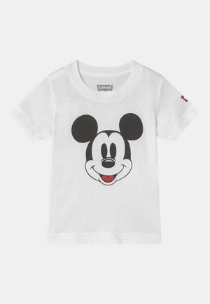 MICKEY MOUSE HEAD UNISEX - Print T-shirt - white