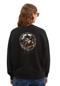 Scotch & Soda - CREWNECK WITH GRAPHIC - Sweatshirt - black - 2