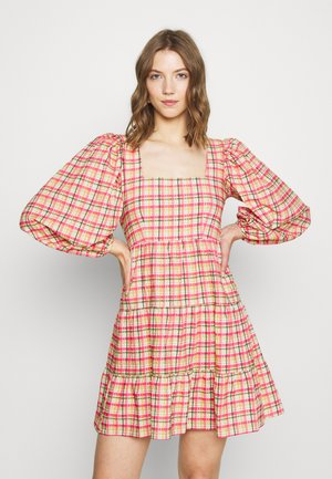 CHECK SMOCK MINI - Day dress - multi