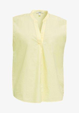 BLUSEN-TOP AUS 100% BIO-BAUMWOLLE - Camicetta - lime yellow