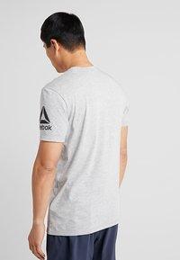 Reebok - TEE - Print T-shirt - grey - 2