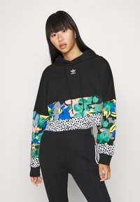 adidas Originals - CROPPED HOODIE - Hoodie - black - 0