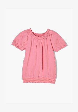MIT SMOK ABSCHLUSS - Bluse - pink