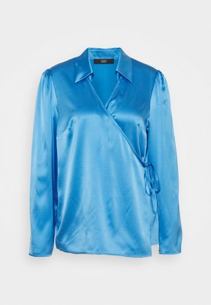 SYLVIE LUXURY WRAP BLOUSE - Bluser - electric blue