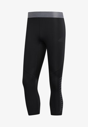 ALPHASKIN GRAPHIC 3/4 TIGHTS - 3/4 sports trousers - black