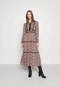 Vero Moda - VMBELLA TIE DRESS - Day dress - ombre blue - 0