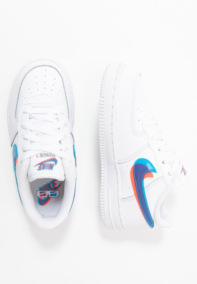 FORCE 1 LV8 - Sneakersy niskie - white/blue hero/bright crimson