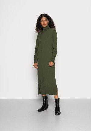 Jumper dress - olive leaf