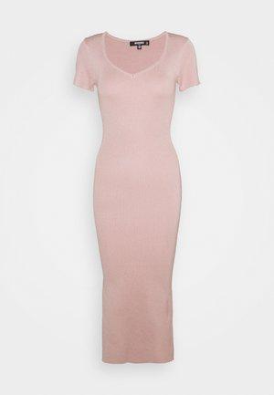 SHORT SLEEVE DRESS - Vestido de punto - blush