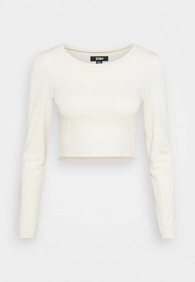 Zign - REDEZIGN - Long sleeved top - beige