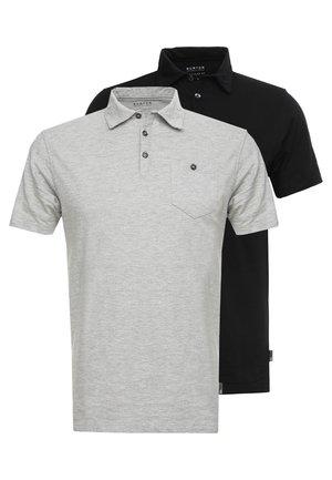 BASIC 2 PACK - Polo shirt - grey black