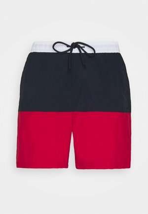 NAUTICAL - Swimming shorts - navy/red/white