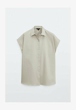 Button-down blouse - grey