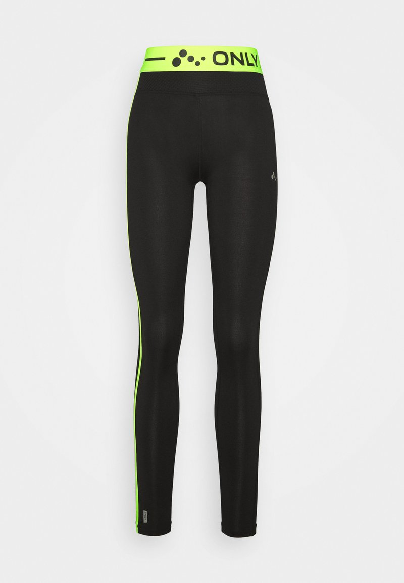 ONLY PLAY Tall - ONPJACEI ATHL TIGHTS TALL - Leggings - black saftey yellow